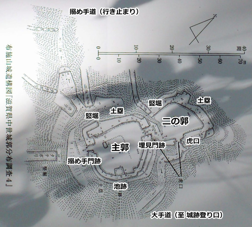 布施山城遺構図
