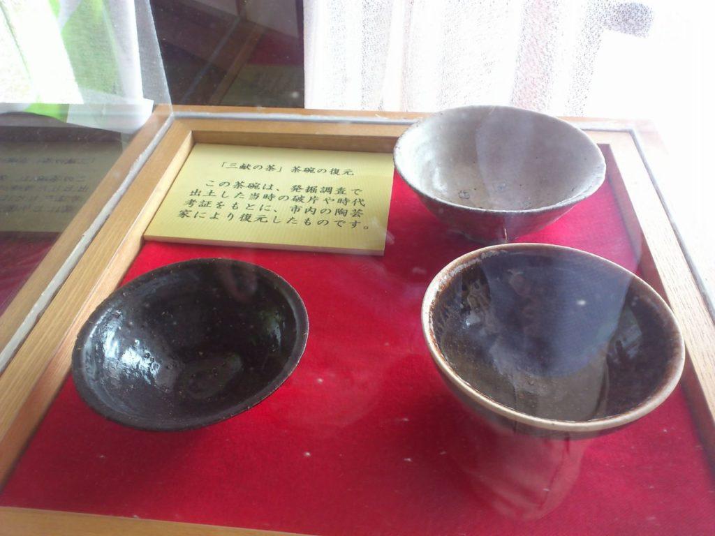 復元された「三献の茶」の茶碗