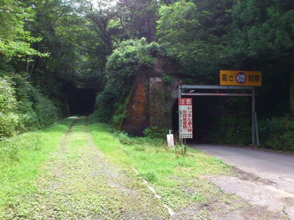 行き止まりのトンネルと山中トンネル