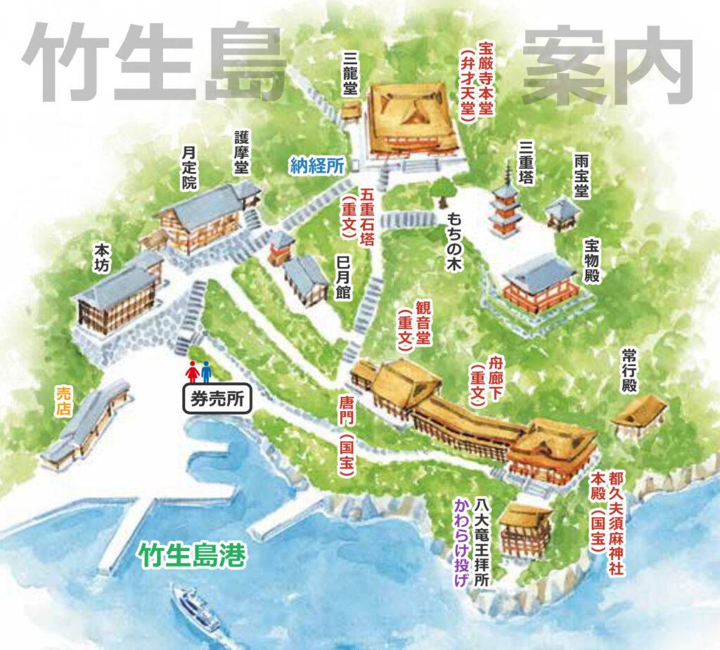 竹生島案内鳥瞰図