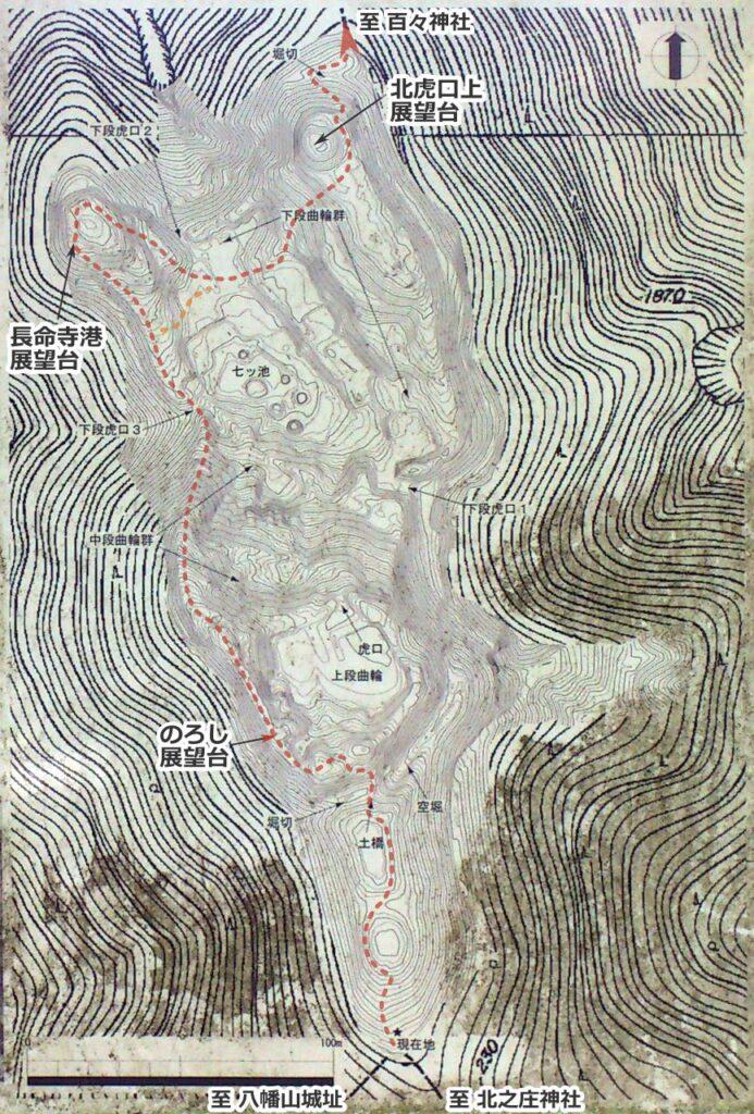 北之庄城址地図