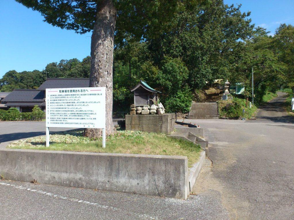 虎姫山公園の駐車場