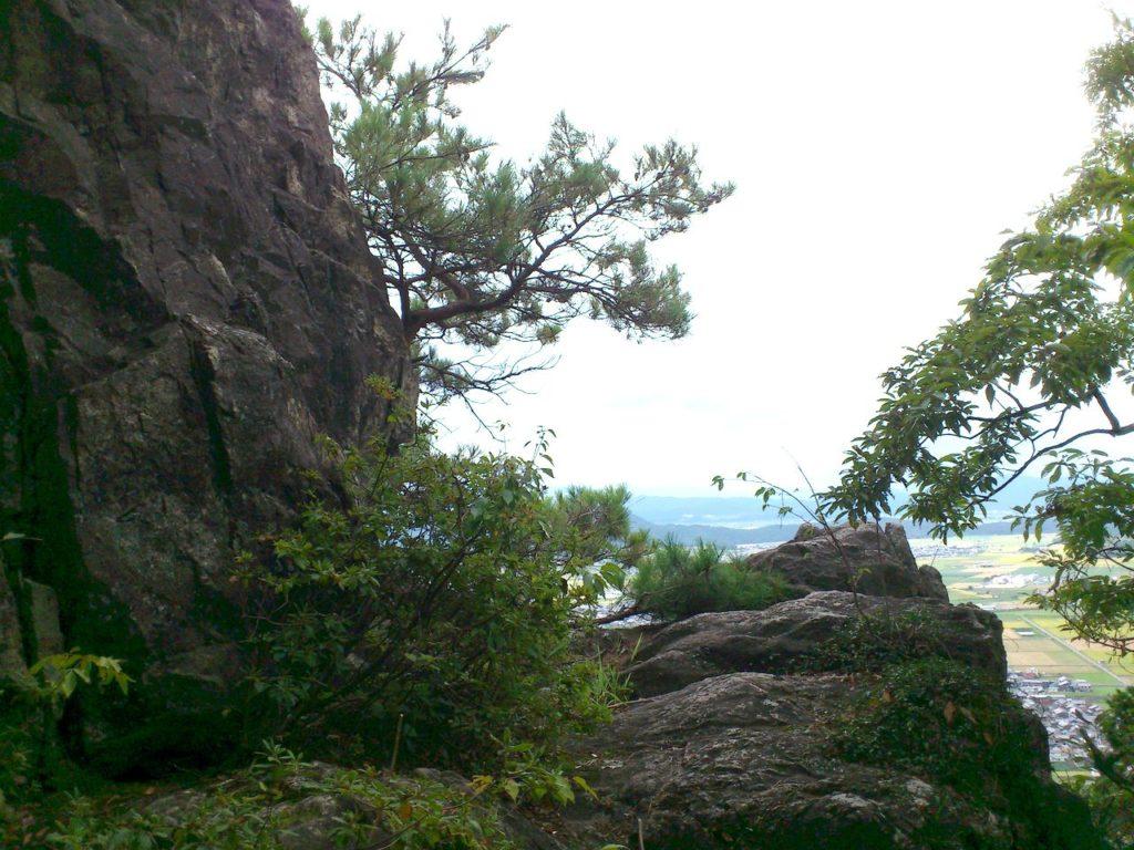 大岩横の断崖展望台