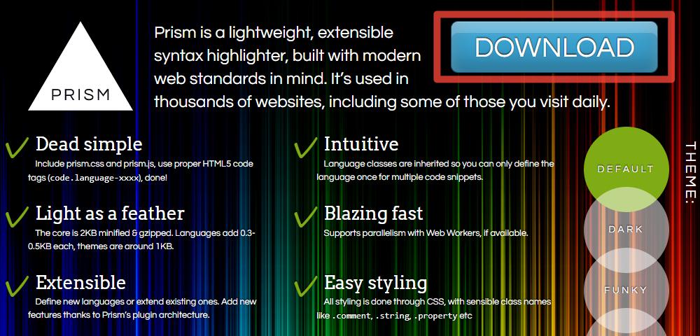 Prism.jsのホームページ