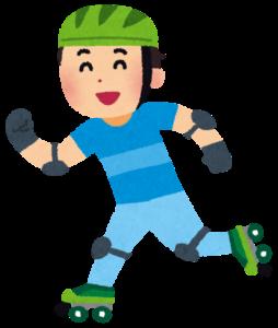 ローラースケートをする男性