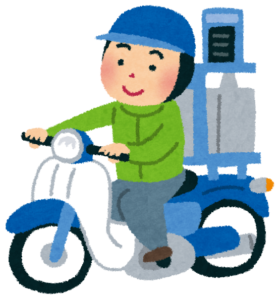 バイクで出前