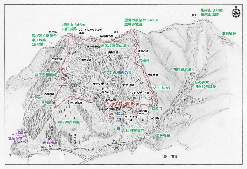 文殊の森鳥瞰図