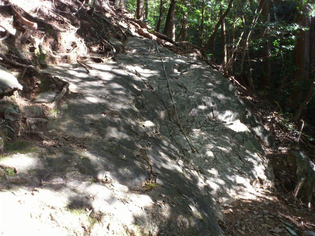 むき出しの岩盤