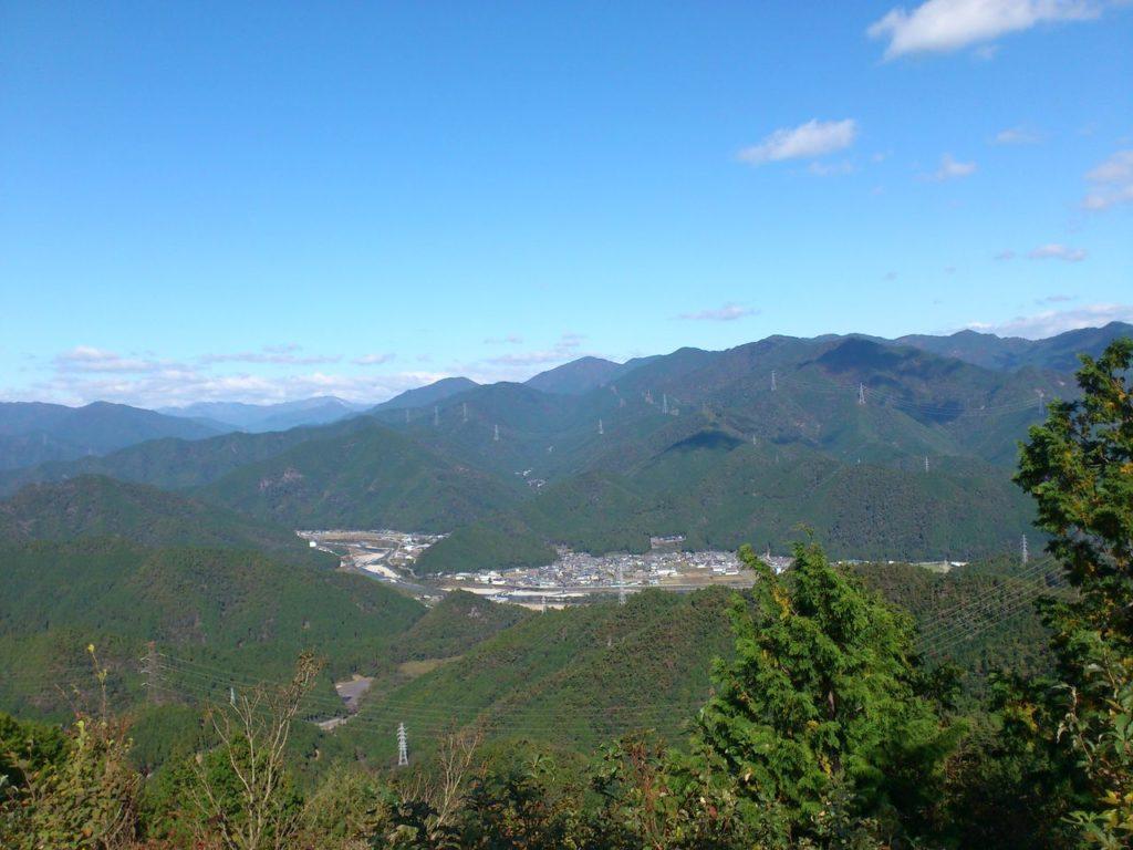 天王山頂上から北