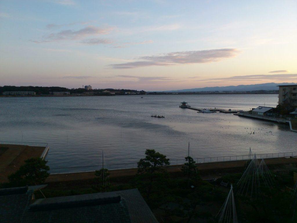 夜明け直前の柴山潟