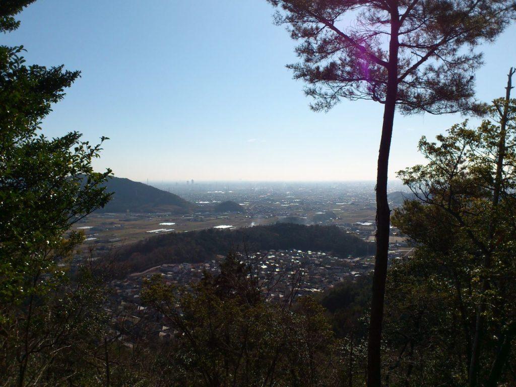大平山の見晴台からの景色