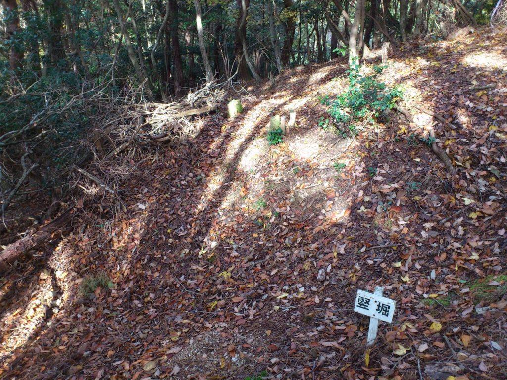 長比砦跡の竪堀