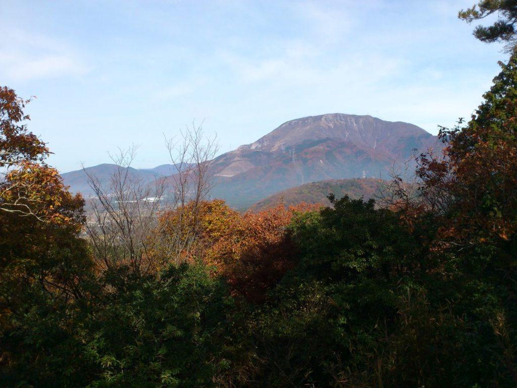 東曲輪西側の展望台から北の方角の景色