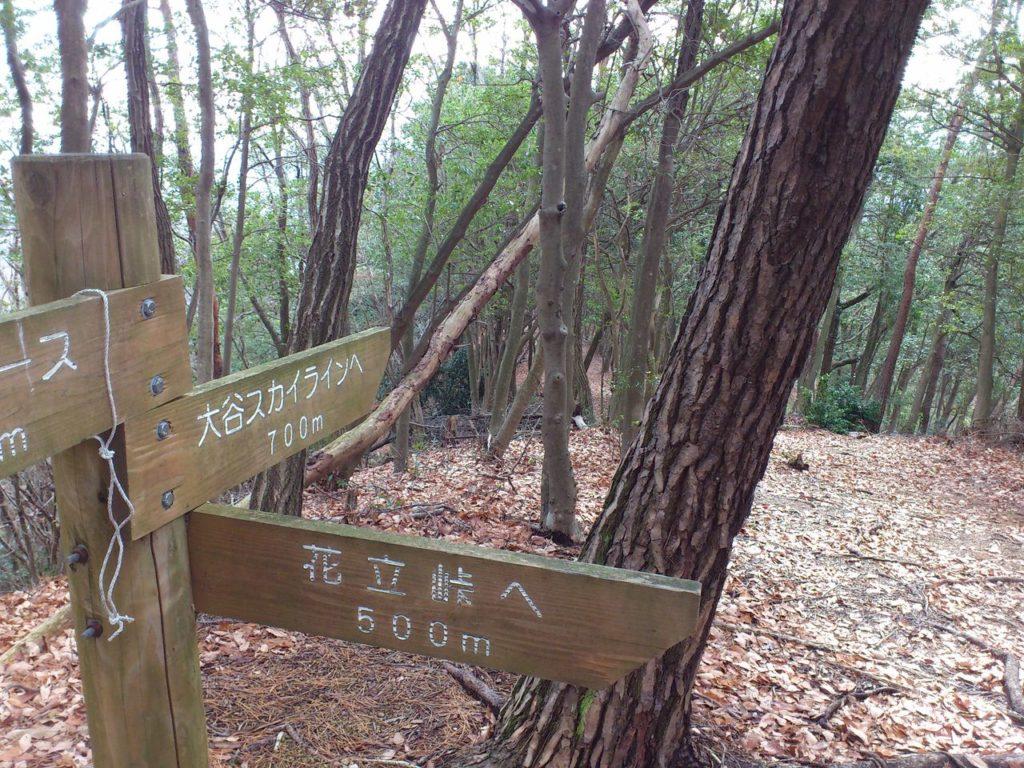 城跡探索コースの起点