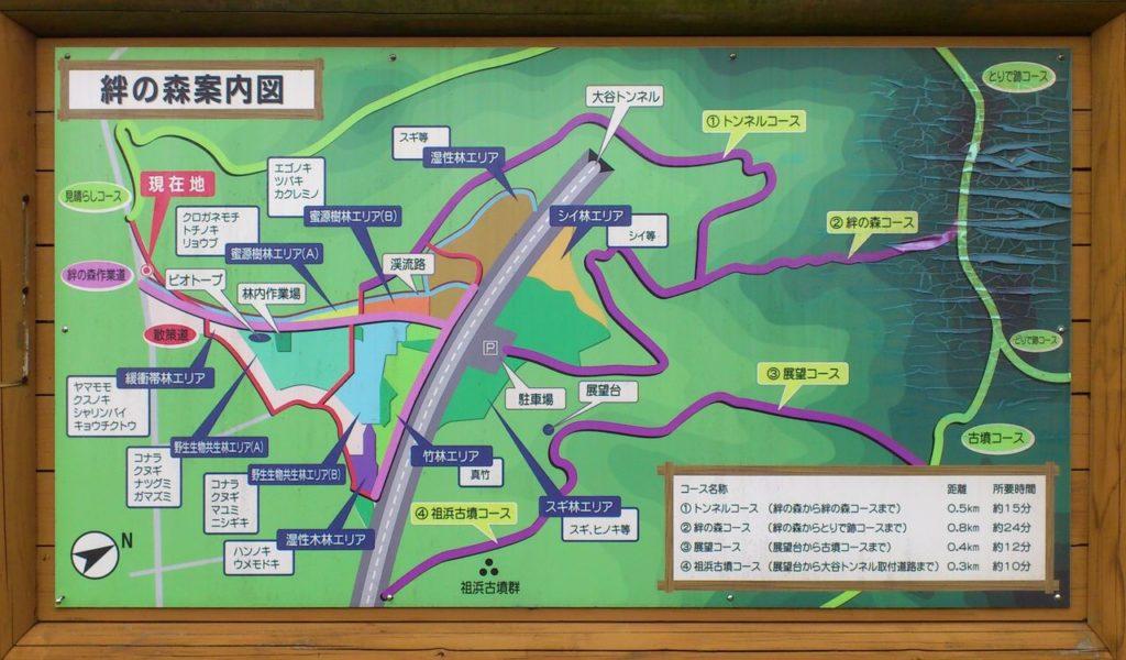 絆の森案内図