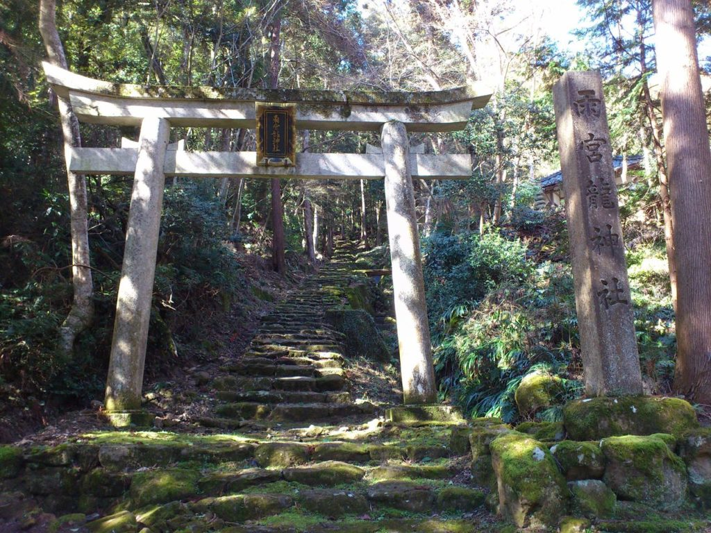 雨宮龍神社の石鳥居