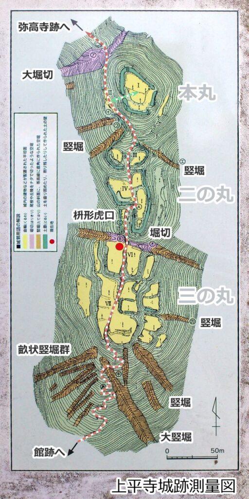 上平寺城測量図