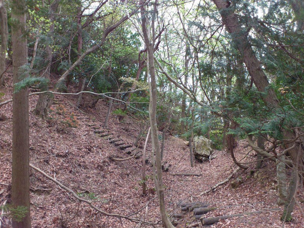 玉城跡の大堀切