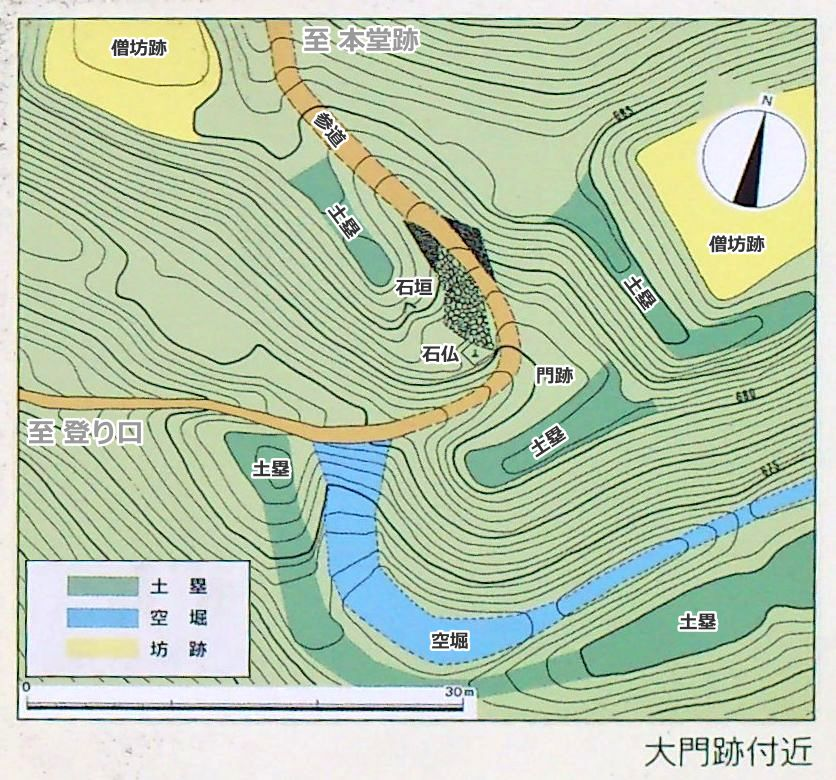 弥高寺大門跡付近平面図