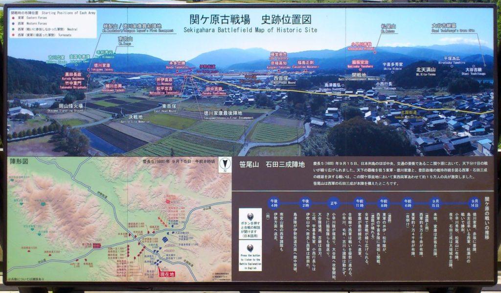 関ヶ原古戦場 史跡位置図