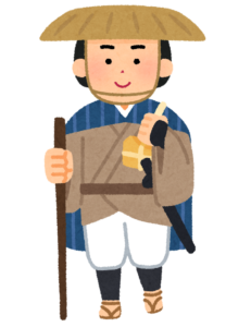 江戸時代の旅人男性