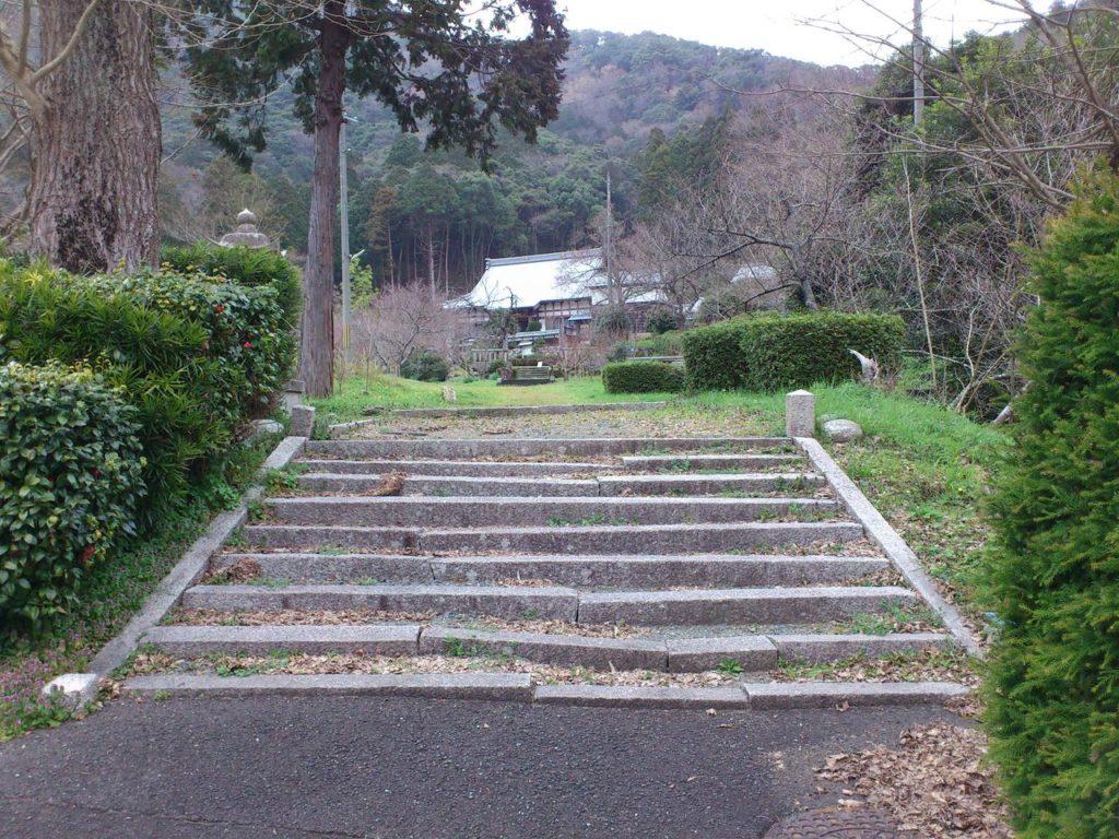 羽賀寺旧参道入り口