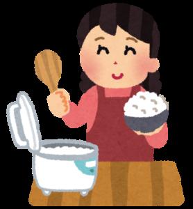 炊飯器と女性