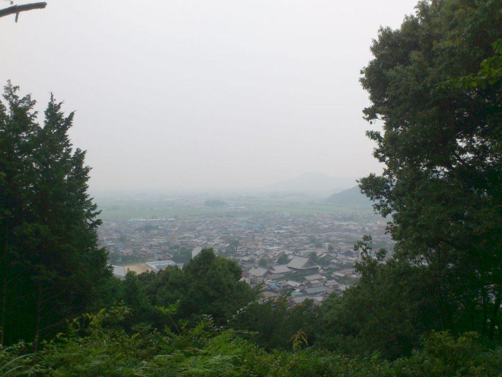 田上山中腹の高台からの眺め