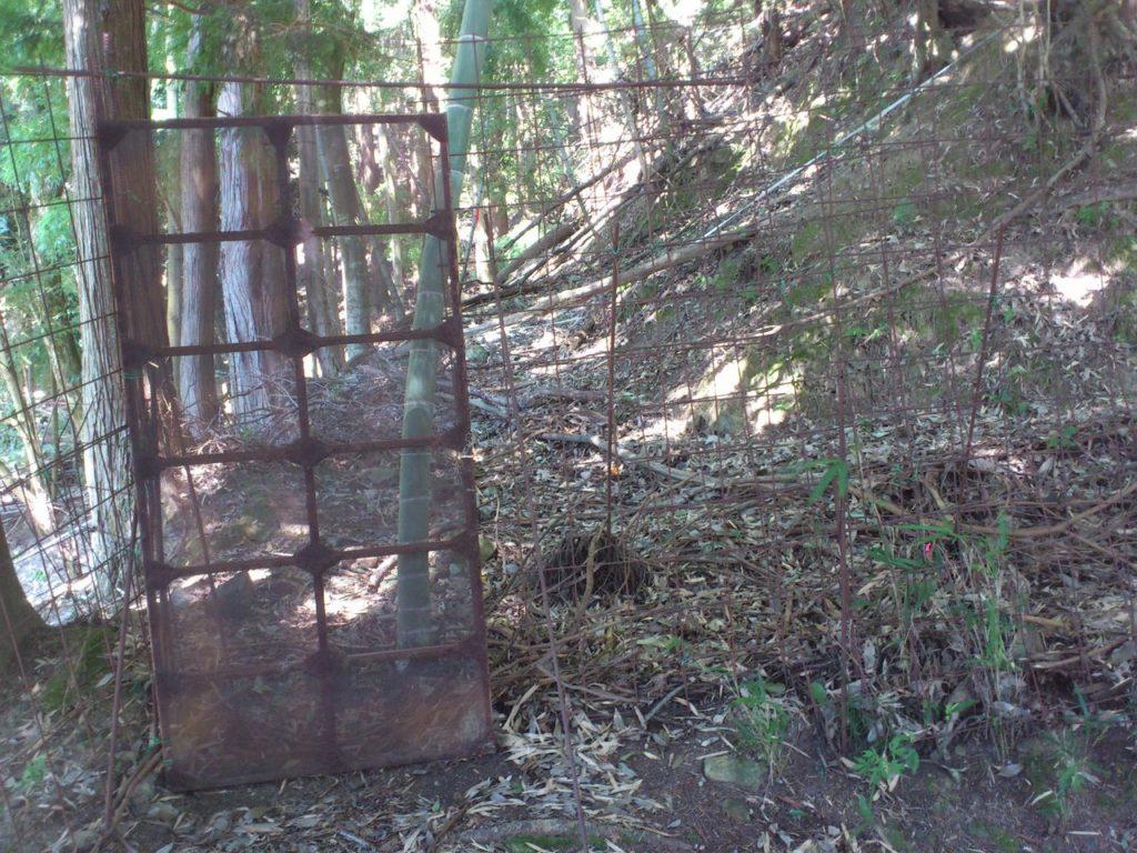 獣害防止柵の入り口