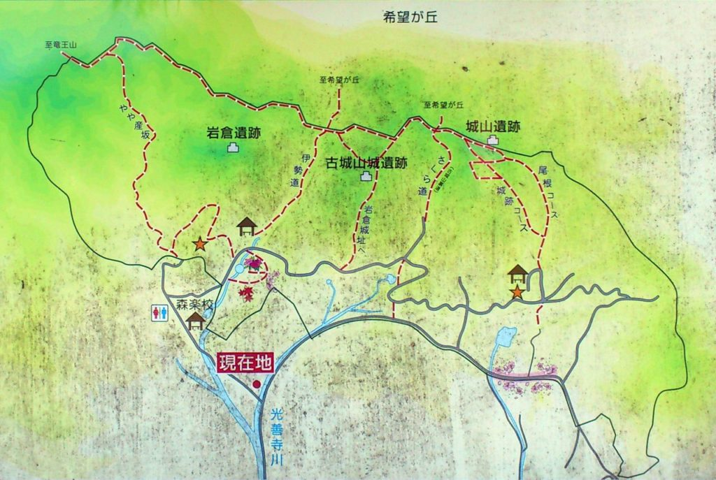 小堤・大篠原自然環境保全治山案内図