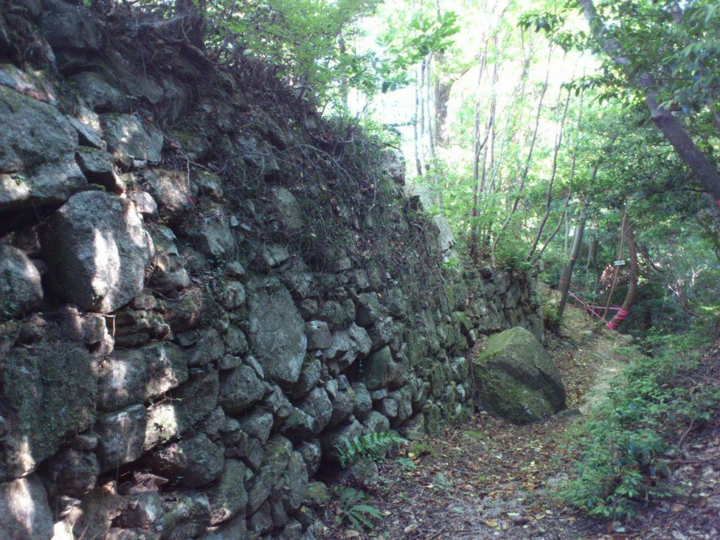 15曲輪跡の石垣