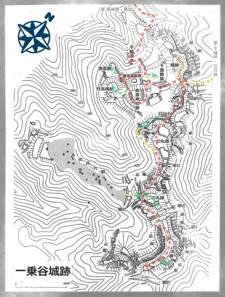 一乗谷城跡案内図