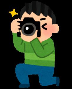 カメラ撮影する男性