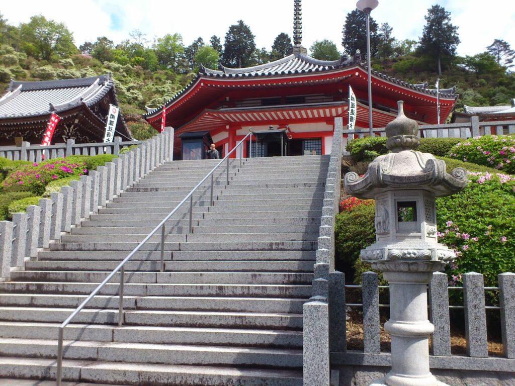 大龍寺の大石段