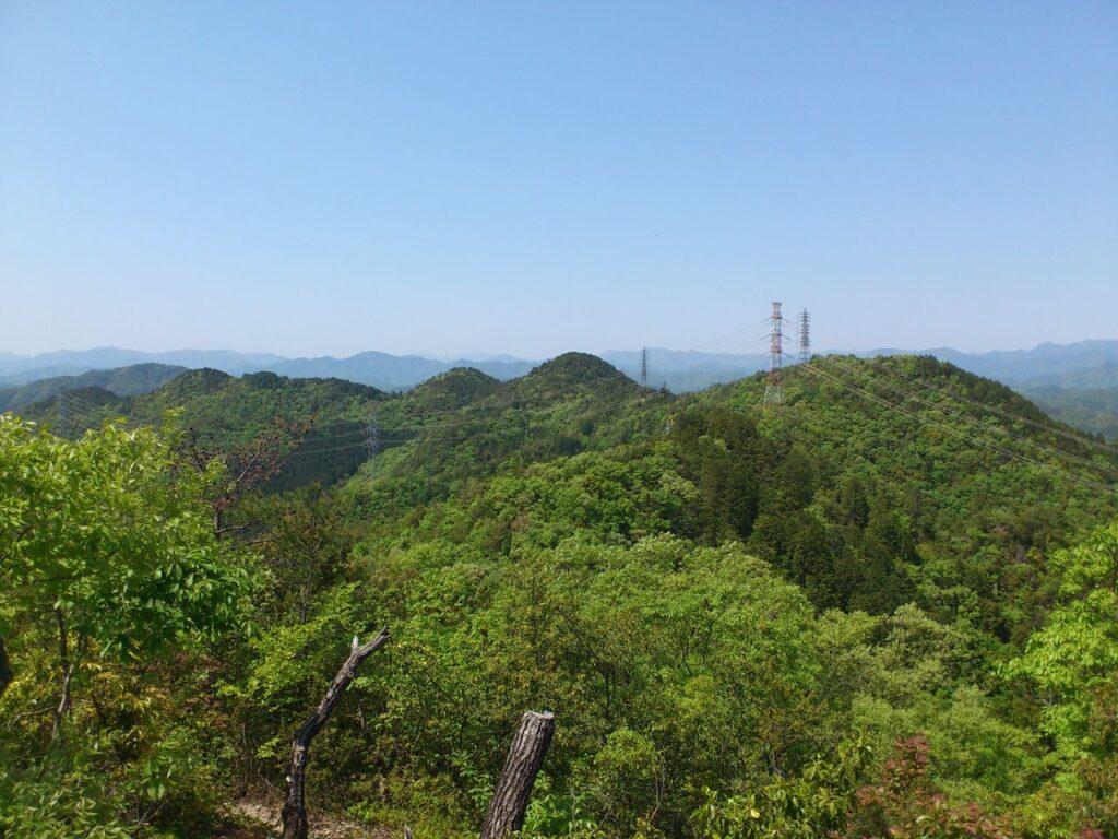 源太峰の稜線