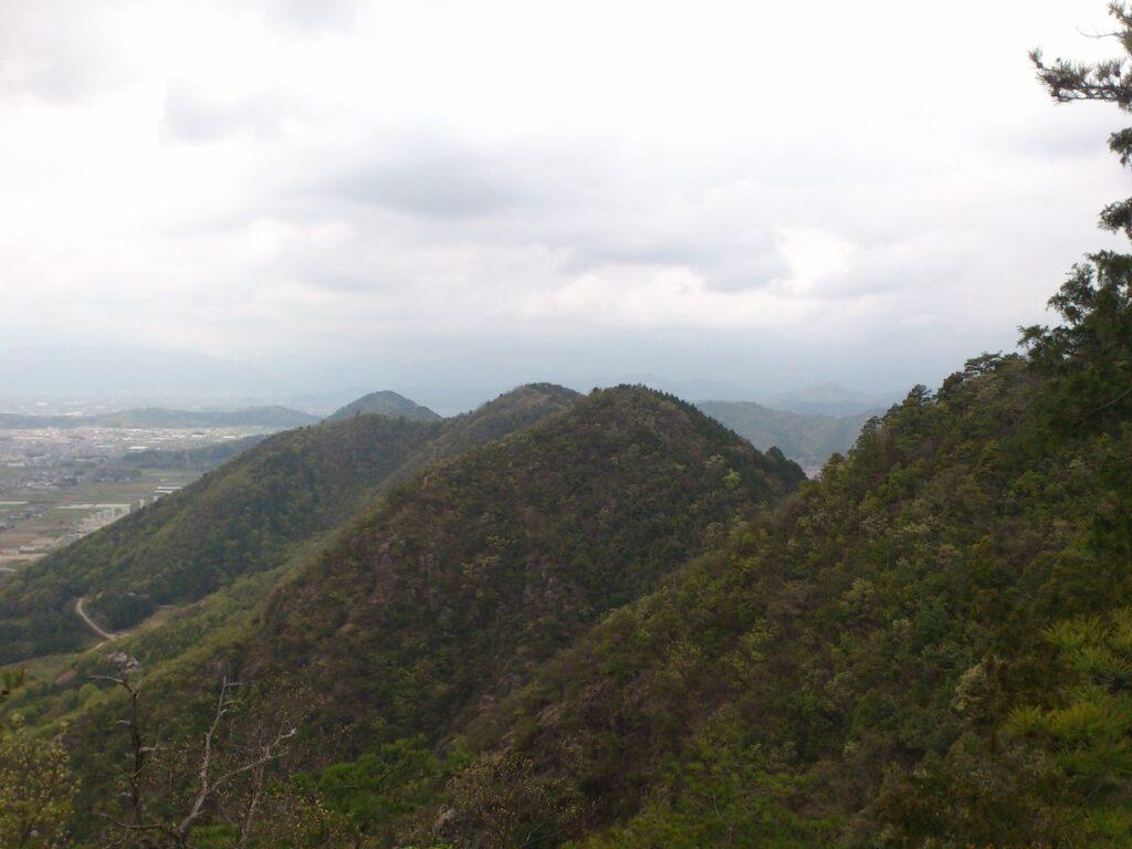 城ヶ峰の山並み