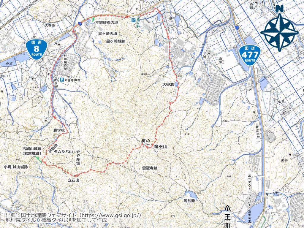 鏡山周辺地図