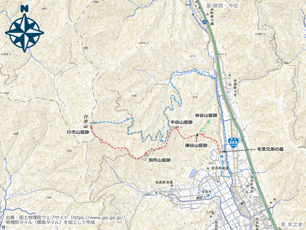 行市山周辺地図