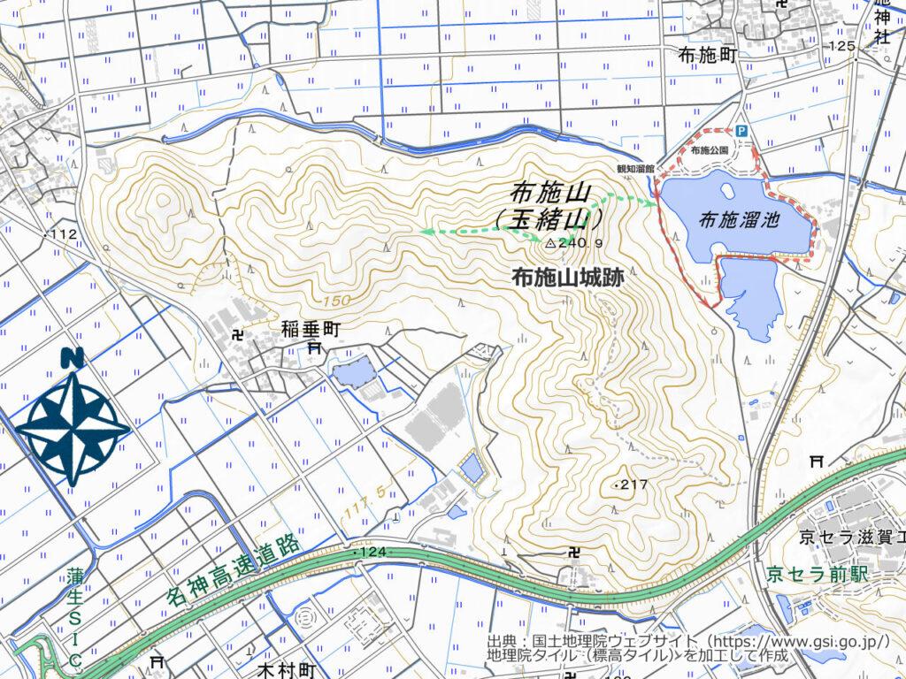 布施山周辺地図