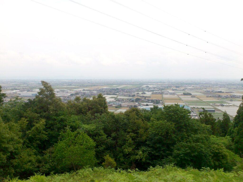 象鼻山頂上から濃尾平野