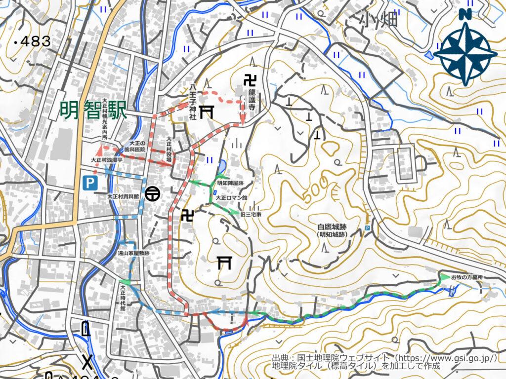 日本大正村周辺地図