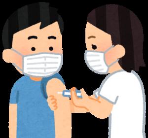 ワクチン接種を受ける男性