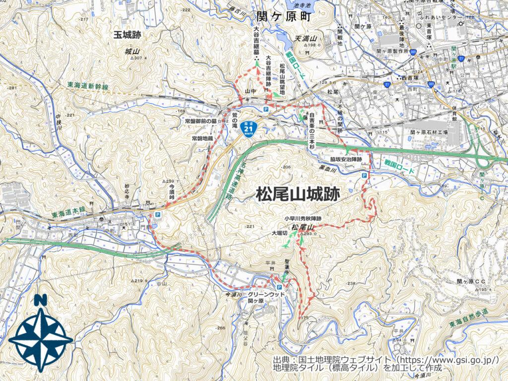 松尾山周辺地図