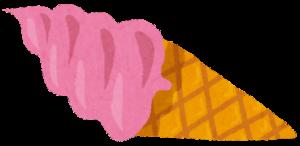 バラ味のソフトクリーム