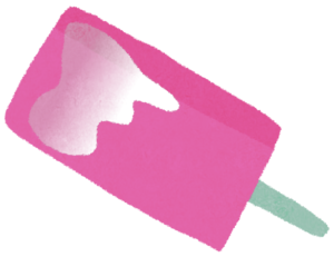 ピンクのアイスバー